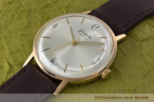 Used luxury watch Glashütte * gold-plated manual winding Kal. 70.1  | 153267 01