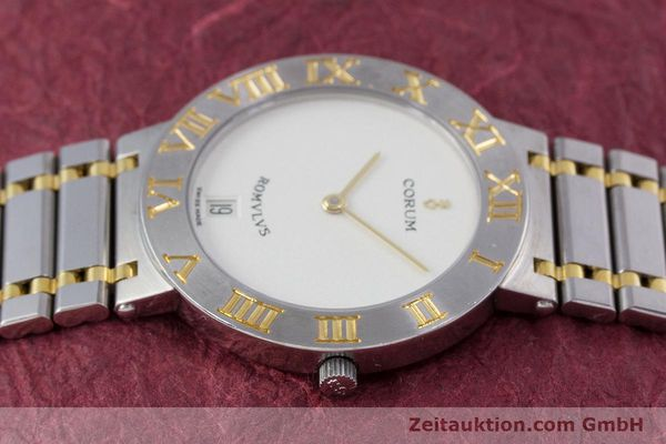 Used luxury watch Corum Romulus steel / gold quartz Kal. ETA 255441 Ref. 43.903.21.V048  | 153277 05