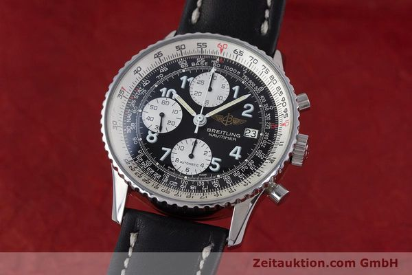 Used luxury watch Breitling Navitimer chronograph steel automatic Kal. Valj.  7750 Ref. 81610  | 153278 04