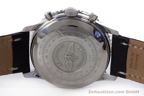 Used luxury watch Breitling Navitimer chronograph steel automatic Kal. Valj.  7750 Ref. 81610  | 153278 09