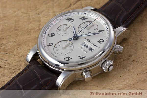 Used luxury watch Montblanc Meisterstück chronograph steel automatic Kal. 4810501 ETA 7750 Ref. 7201  | 153283 01