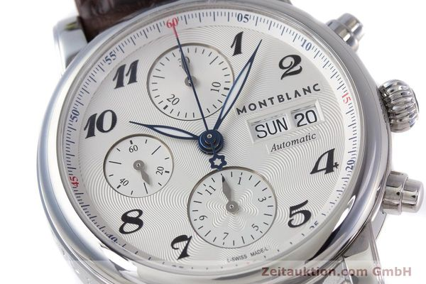 Used luxury watch Montblanc Meisterstück chronograph steel automatic Kal. 4810501 ETA 7750 Ref. 7201  | 153283 02