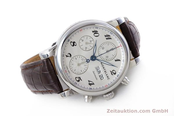Used luxury watch Montblanc Meisterstück chronograph steel automatic Kal. 4810501 ETA 7750 Ref. 7201  | 153283 03