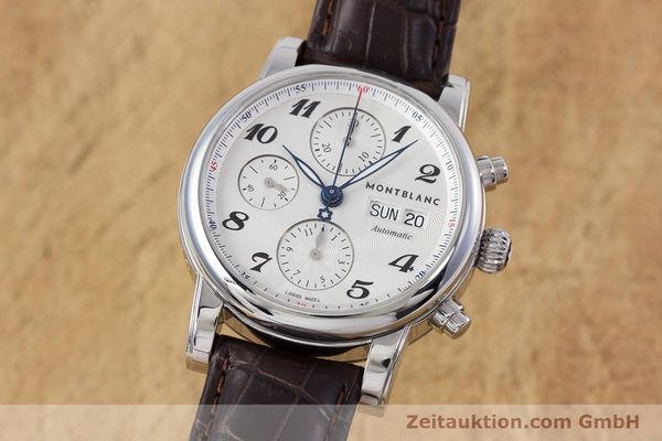 Used luxury watch Montblanc Meisterstück chronograph steel automatic Kal. 4810501 ETA 7750 Ref. 7201  | 153283 04