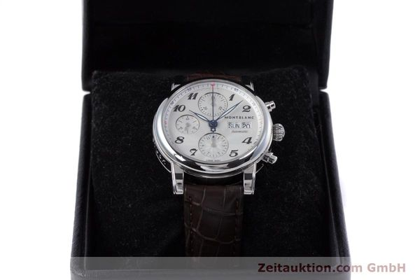 Used luxury watch Montblanc Meisterstück chronograph steel automatic Kal. 4810501 ETA 7750 Ref. 7201  | 153283 07
