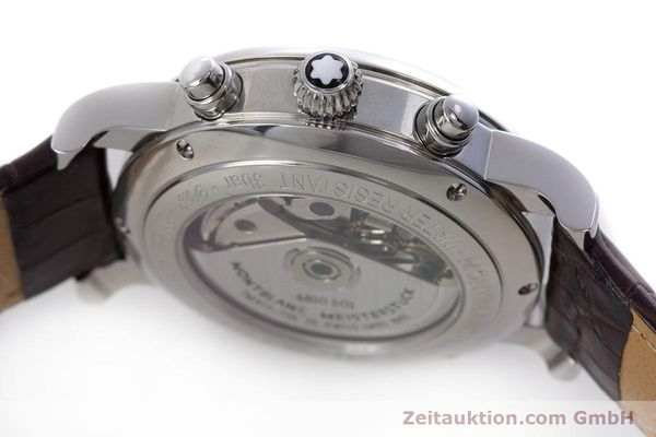 Used luxury watch Montblanc Meisterstück chronograph steel automatic Kal. 4810501 ETA 7750 Ref. 7201  | 153283 08