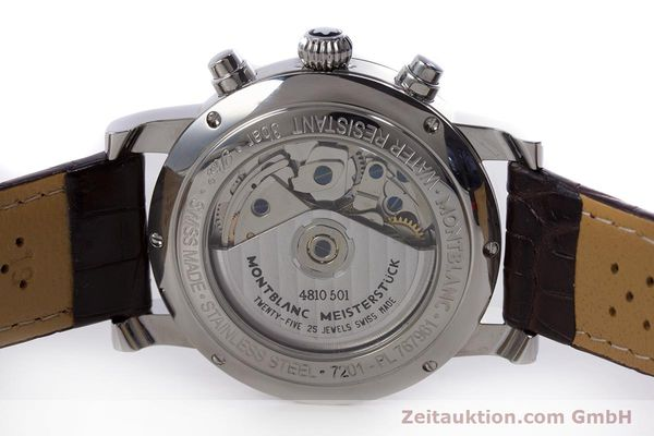 Used luxury watch Montblanc Meisterstück chronograph steel automatic Kal. 4810501 ETA 7750 Ref. 7201  | 153283 09