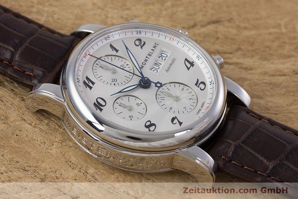Used luxury watch Montblanc Meisterstück chronograph steel automatic Kal. 4810501 ETA 7750 Ref. 7201  | 153283 13