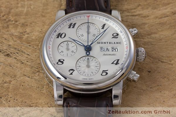 Used luxury watch Montblanc Meisterstück chronograph steel automatic Kal. 4810501 ETA 7750 Ref. 7201  | 153283 14