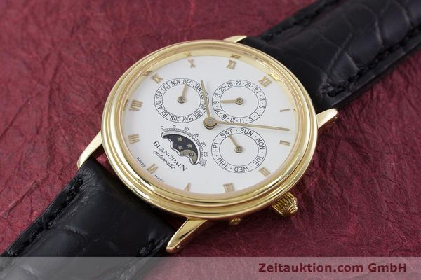 Used luxury watch Blancpain Villeret 18 ct gold automatic Kal. 95  | 153286 01