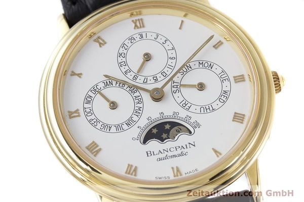 Used luxury watch Blancpain Villeret 18 ct gold automatic Kal. 95  | 153286 02