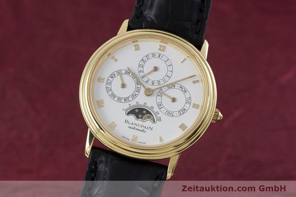 Used luxury watch Blancpain Villeret 18 ct gold automatic Kal. 95  | 153286 04