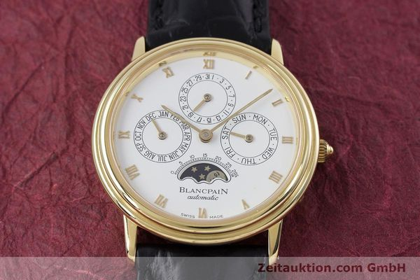 Used luxury watch Blancpain Villeret 18 ct gold automatic Kal. 95  | 153286 17
