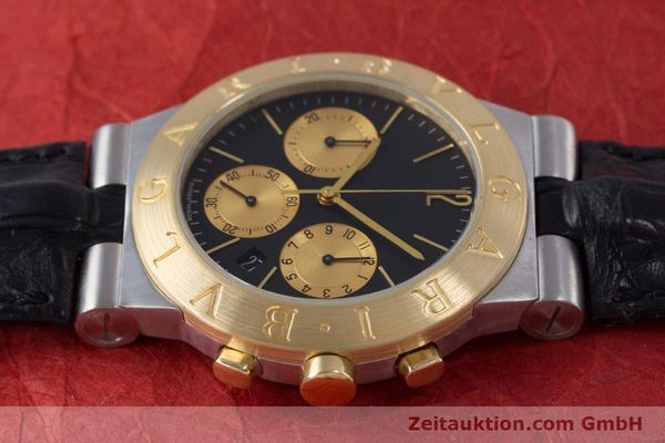 Used luxury watch Bvlgari Diagono chronograph steel / gold quartz Kal. 1270 MBBI Ref. CH35SG  | 153289 05