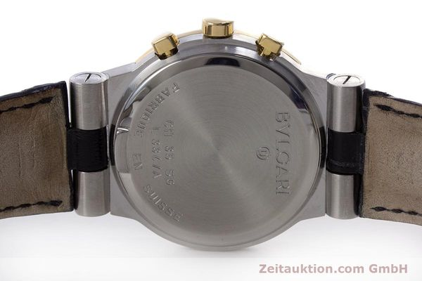 Used luxury watch Bvlgari Diagono chronograph steel / gold quartz Kal. 1270 MBBI Ref. CH35SG  | 153289 08