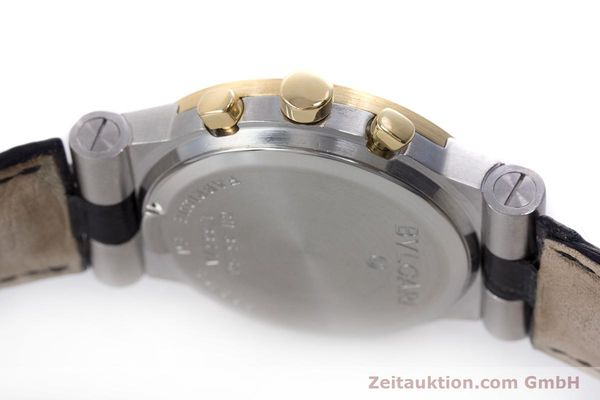 Used luxury watch Bvlgari Diagono chronograph steel / gold quartz Kal. 1270 MBBI Ref. CH35SG  | 153289 11