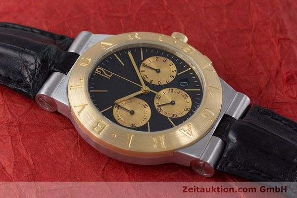 Used luxury watch Bvlgari Diagono chronograph steel / gold quartz Kal. 1270 MBBI Ref. CH35SG  | 153289 14