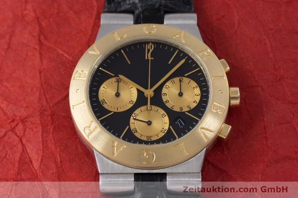 Used luxury watch Bvlgari Diagono chronograph steel / gold quartz Kal. 1270 MBBI Ref. CH35SG  | 153289 15
