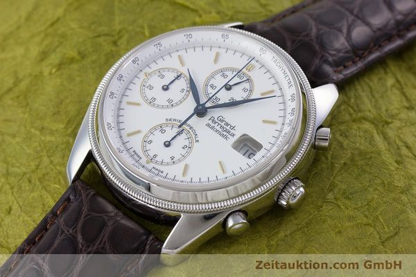 Used luxury watch Girard Perregaux GP 4900 chronograph steel automatic Kal. 8000-314 LIMITED EDITION | 153290 01