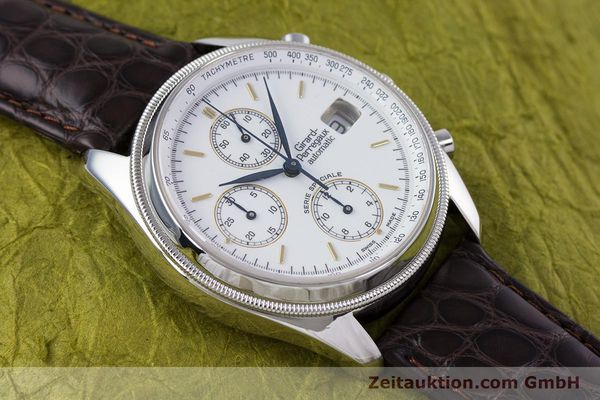 Used luxury watch Girard Perregaux GP 4900 chronograph steel automatic Kal. 8000-314 LIMITED EDITION | 153290 12