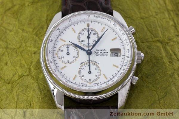Used luxury watch Girard Perregaux GP 4900 chronograph steel automatic Kal. 8000-314 LIMITED EDITION | 153290 13