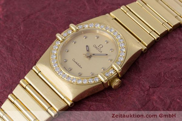 gebrauchte Luxusuhr Omega Constellation 18k Gold Quarz Kal. ETA 976.001  | 153292 01