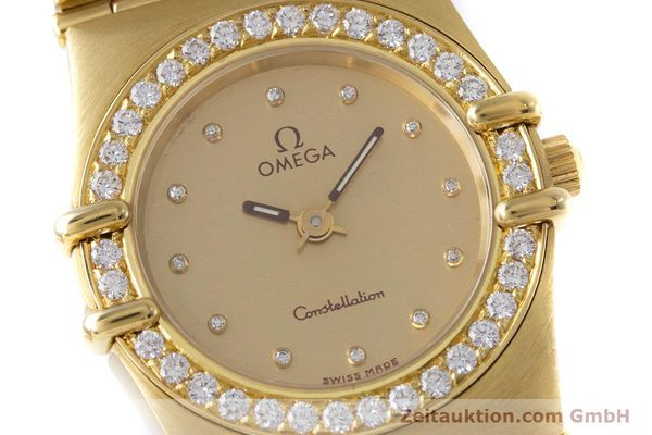 gebrauchte Luxusuhr Omega Constellation 18k Gold Quarz Kal. ETA 976.001  | 153292 02