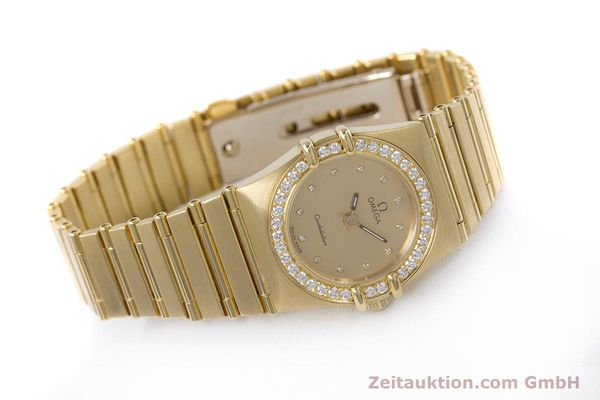 gebrauchte Luxusuhr Omega Constellation 18k Gold Quarz Kal. ETA 976.001  | 153292 03