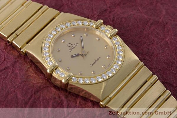 gebrauchte Luxusuhr Omega Constellation 18k Gold Quarz Kal. ETA 976.001  | 153292 14
