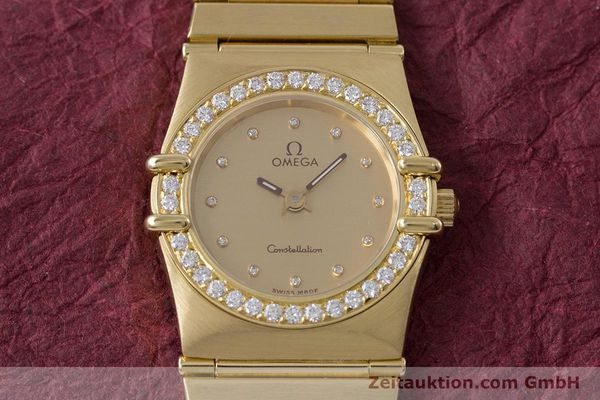 gebrauchte Luxusuhr Omega Constellation 18k Gold Quarz Kal. ETA 976.001  | 153292 15