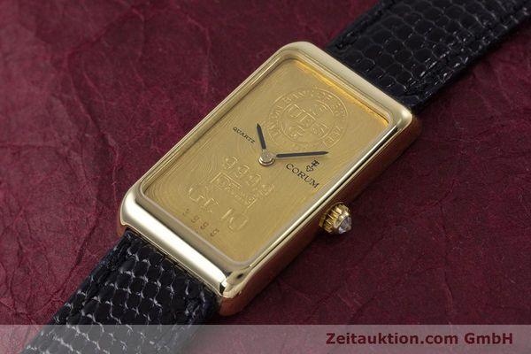 gebrauchte Luxusuhr Corum Goldbarren 18k Gold Quarz Kal. 602.1 Ref. 42400  | 153294 01