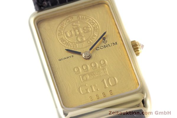 gebrauchte Luxusuhr Corum Goldbarren 18k Gold Quarz Kal. 602.1 Ref. 42400  | 153294 02