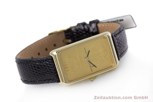 gebrauchte Luxusuhr Corum Goldbarren 18k Gold Quarz Kal. 602.1 Ref. 42400  | 153294 03