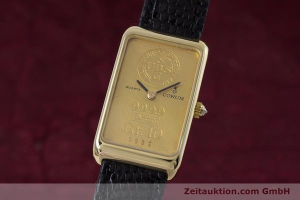 gebrauchte Luxusuhr Corum Goldbarren 18k Gold Quarz Kal. 602.1 Ref. 42400  | 153294 04