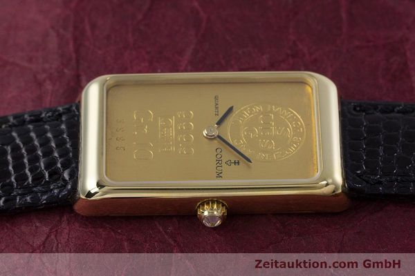 gebrauchte Luxusuhr Corum Goldbarren 18k Gold Quarz Kal. 602.1 Ref. 42400  | 153294 05
