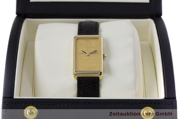 gebrauchte Luxusuhr Corum Goldbarren 18k Gold Quarz Kal. 602.1 Ref. 42400  | 153294 07
