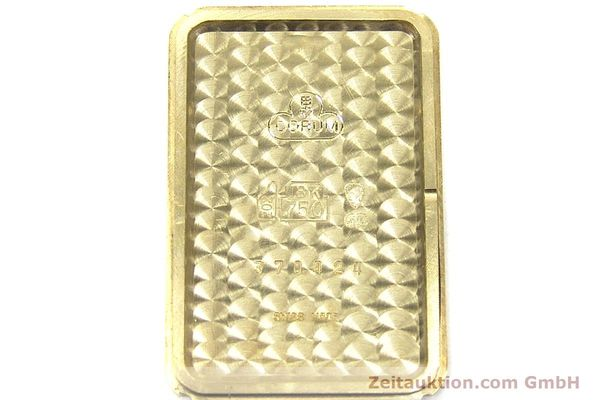 gebrauchte Luxusuhr Corum Goldbarren 18k Gold Quarz Kal. 602.1 Ref. 42400  | 153294 10