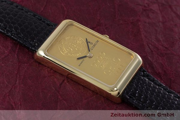 gebrauchte Luxusuhr Corum Goldbarren 18k Gold Quarz Kal. 602.1 Ref. 42400  | 153294 13