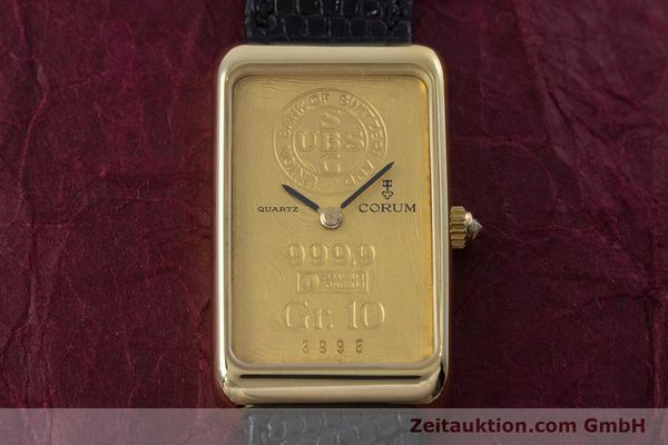 gebrauchte Luxusuhr Corum Goldbarren 18k Gold Quarz Kal. 602.1 Ref. 42400  | 153294 14