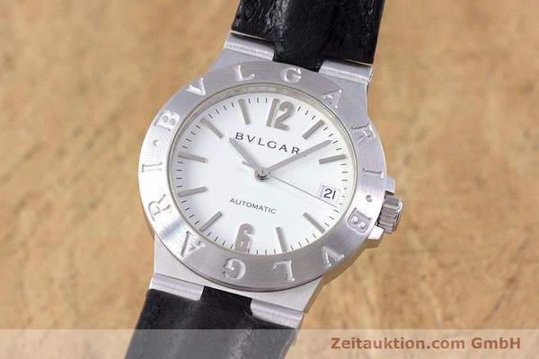 Used luxury watch Bvlgari Diagono 18 ct white gold automatic Kal. 220MBBV Ref. LCW35G  | 153311 04