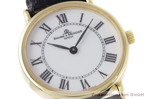 Used luxury watch Baume & Mercier * 18 ct gold quartz Kal. BM5095 ETA 976.001 Ref. 16772A  | 153317 02