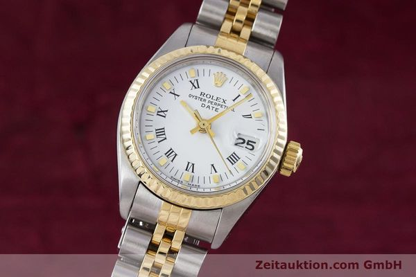 Used luxury watch Rolex Lady Date steel / gold automatic Kal. 2030 Ref. 6917  | 153323 04