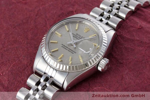 Used luxury watch Rolex Lady Datejust steel / white gold automatic Kal. 2030 Ref. 6917  | 153330 01
