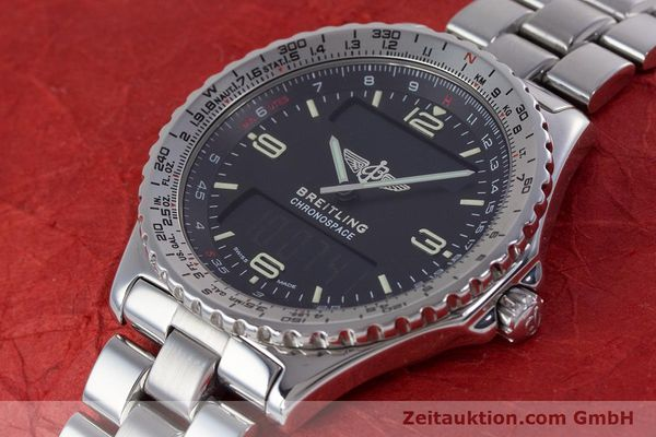 Used luxury watch Breitling Chronospace chronograph steel quartz Kal. Eta 988332 Ref. A560121  | 153352 01
