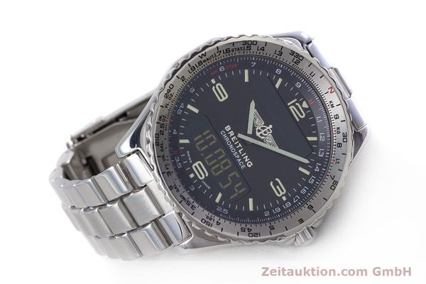 Used luxury watch Breitling Chronospace chronograph steel quartz Kal. Eta 988332 Ref. A560121  | 153352 03