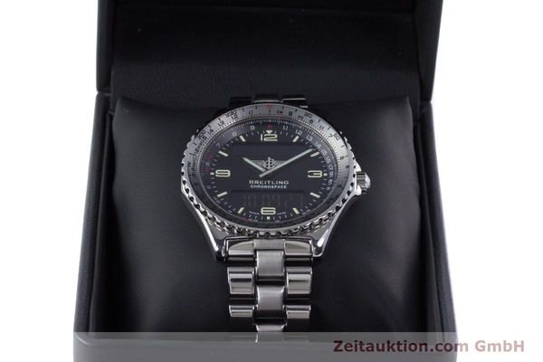Used luxury watch Breitling Chronospace chronograph steel quartz Kal. Eta 988332 Ref. A560121  | 153352 07