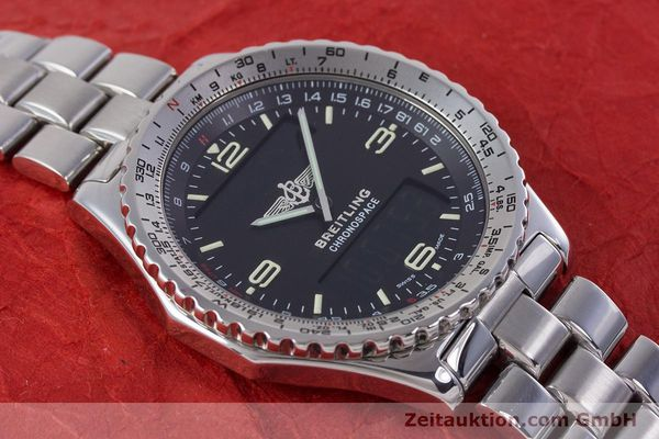 Used luxury watch Breitling Chronospace chronograph steel quartz Kal. Eta 988332 Ref. A560121  | 153352 14