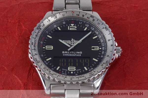 Used luxury watch Breitling Chronospace chronograph steel quartz Kal. Eta 988332 Ref. A560121  | 153352 15