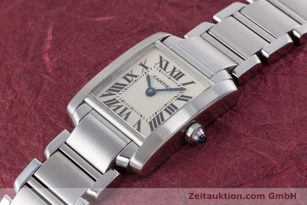 Used luxury watch Cartier Tank steel quartz Kal. 057 Ref. 2384  | 153370 01