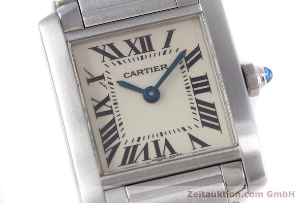 Used luxury watch Cartier Tank steel quartz Kal. 057 Ref. 2384  | 153370 02